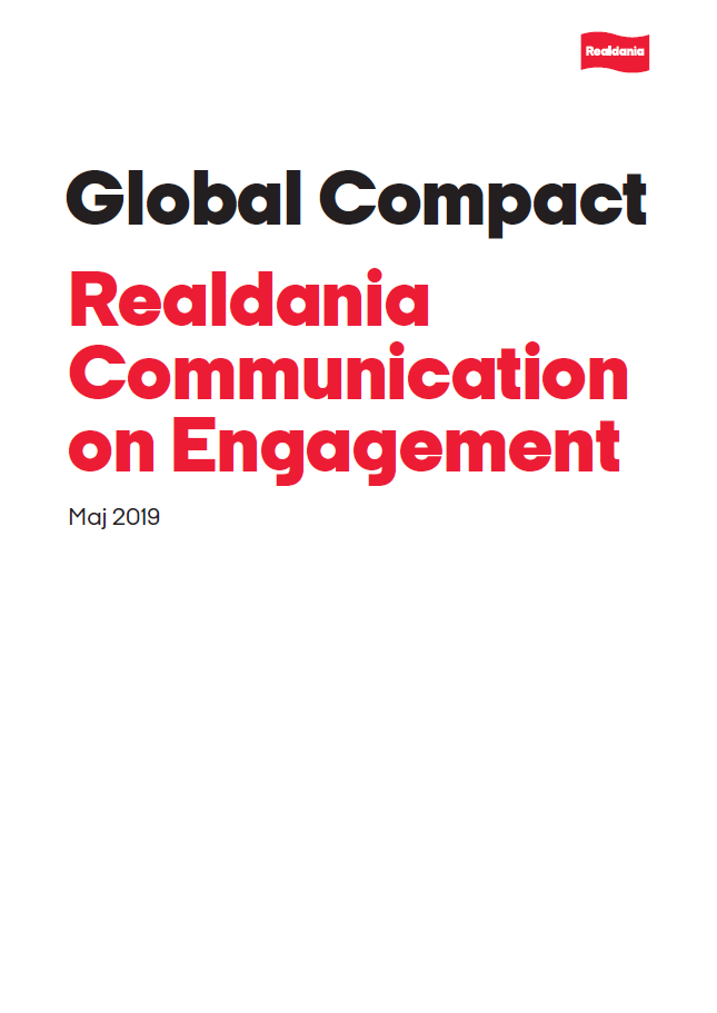 Global Compact - Realdania Communication on Engagement